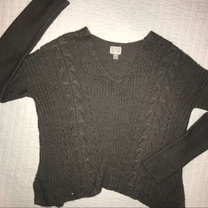 Brown Patterned Sweater